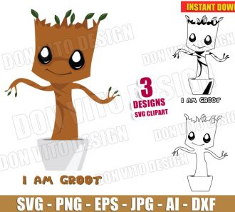 I am Groot - Baby Guardians of the Galaxy (SVG dxf png) Cut Files Image Vector Clipart - Don Vito Design Store