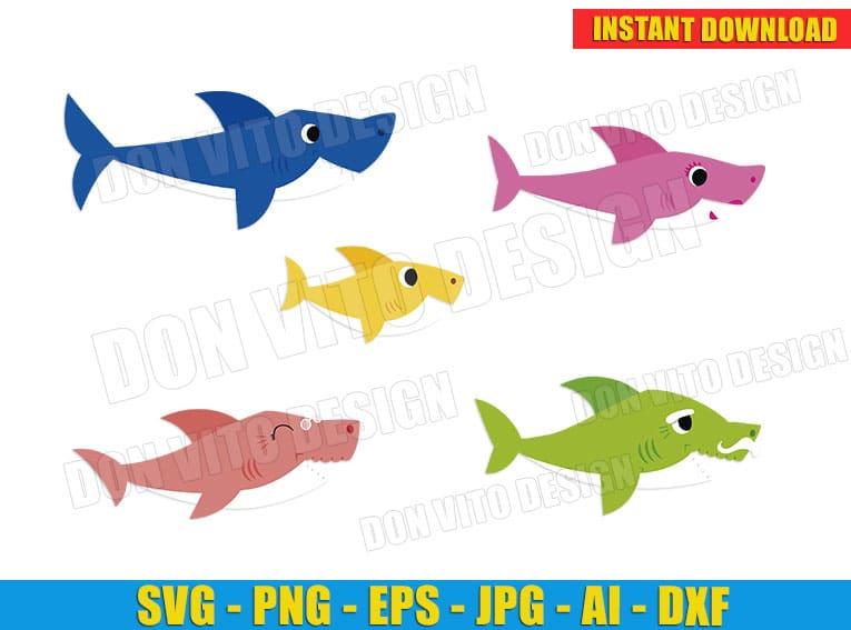 Baby Shark Cut Files Image Vector Clipart - Don Vito Design Store