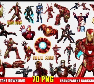 Iron Man Clipart (70 PNG Images) Transparent Background Files Digital Image clipart - Don Vito Design Store