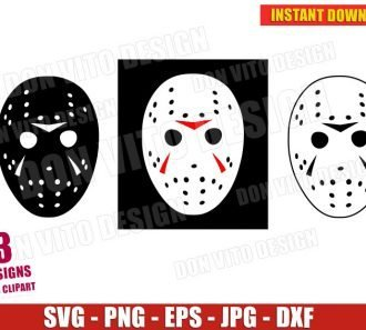 Jason Voorhees Mask Friday The 13th (SVG dxf png) Halloween Movie Logo Cut File Vector Clipart