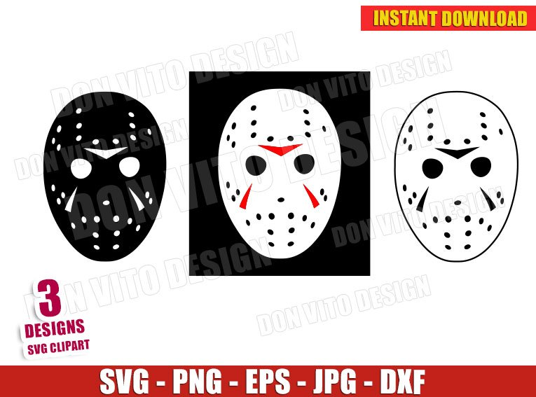 Friday The 13th Halloween Movie Svg Png Jason Mask Machete Cut File