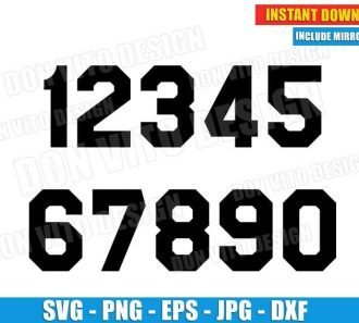Jersey Uniform Popular Numbers (SVG dxf png) Cut Files Image Vector Clipart - Don Vito Design Store