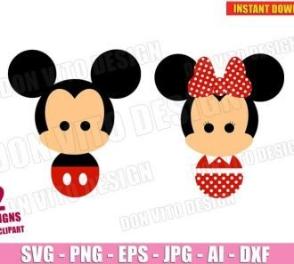 Mickey & Minnie Mouse Couple (SVG dxf PNG) Cut Files Image Vector Clipart - Don Vito Design Store