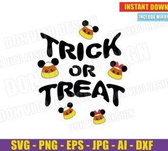 Mickey Minnie Mouse Candy Corn Trick or Treat (SVG dxf png) Cut Files Image Vector Clipart - Don Vito Design Store