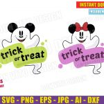 Mickey & Minnie Mouse Ghost Trick or Treat (SVG png ...