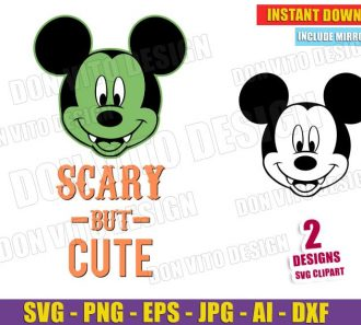 Mickey Mouse Scary but Cute - Halloween (SVG dxf png) Cut Files Image Vector Clipart - Don Vito Design Store