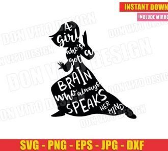 A Girl Who's Got A Brain who Always Speak her Mind (SVG dxf png) Cut Files Image Vector Clipart - Don Vito Design Store