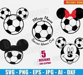 Soccer Mickey Mouse Bundle (SVG dxf png) Cut Files Image Vector Clipart - Don Vito Design Store