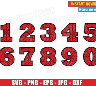 Spiderman Numbers (SVG dxf png) Cut Files Image Vector Clipart - Don Vito Design Store
