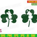 Disney St Patrick's Day Mickey Mouse Irish Shamrock (SVG dxf png) Old Classic Minnie Lucky Clover Silhouette Cut File Cricut Vector Clipart T-Shirt Design Kids
