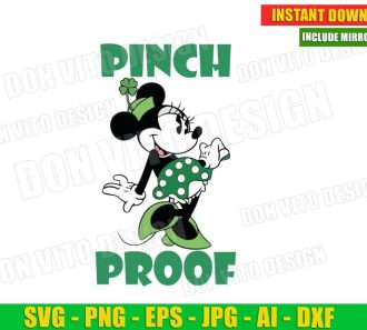 Disney St Patrick's Day Minnie Mouse Pinch Proof (SVG dxf png) Cut Files Image Vector Clipart - Don Vito Design Store