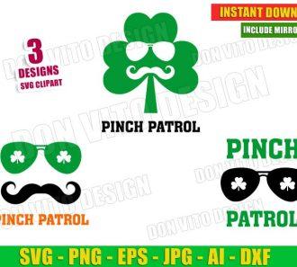 St Patrick's Day Pinch Patrol Irish Mustache Sunglasses (SVG dxf png) Cut Files Image Vector Clipart - Don Vito Design Store