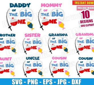 The Big One Family Bundle (SVG dxf png) Cut Files Image Vector Clipart - Don Vito Design Store