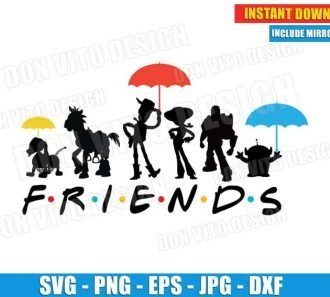 Toy Story Friends Logo Umbrella (SVG dxf png) Disney Cut Files Image Vector Clipart - Don Vito Design Store