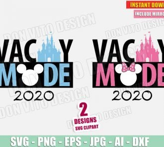 Vacay Mode 2020 Disney Castle Mickey Mouse (SVG dxf png) Cut Files Image Vector Clipart - Don Vito Design Store
