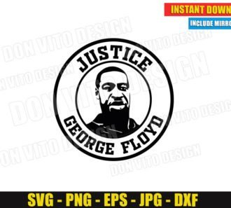 Justice George Floyd Logo (SVG dxf png) Black Live Matters Cut Files Vector Clipart Silhouette Cricut T-Shirt Design