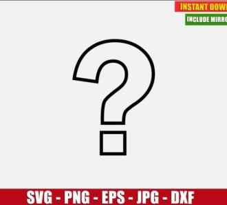 Question Mark Vector Clipart Free (SVG dxf png) Digital Image Cut File Silhouette Cricut T-Shirt Design Freebie DIY Sign Ask Faq Help