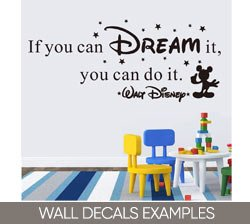 Wall Decals Examples on Amazon