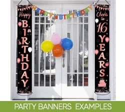Party Banners Examples on Amazon