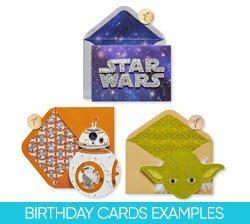 Birthday Cards Examples on Amazon