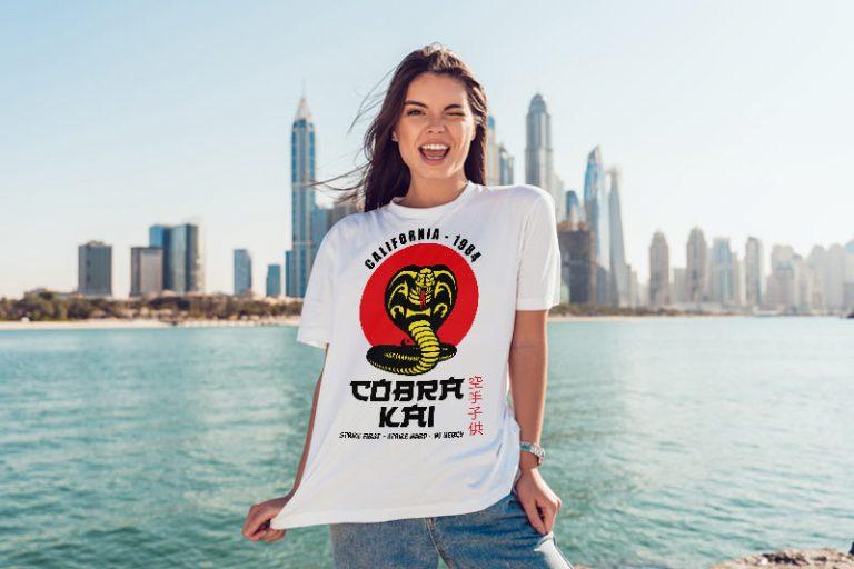 T-Shirt Example - Cobra Kai Logo California 1984 (SVG dxf PNG) Karate Kid Movie Dojo Red Sun Cut File Silhouette Cricut Vector Clipart - Don Vito Design Store