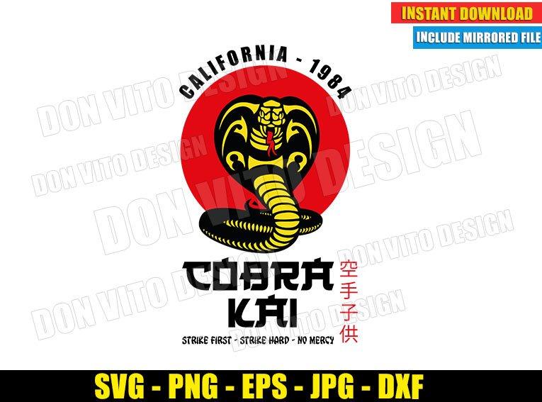 Cobra Kai Logo California 1984 (SVG dxf PNG) Karate Kid Movie Dojo Red Sun Cut File Silhouette Cricut Vector Clipart - Don Vito Design Store