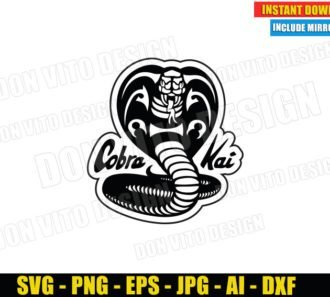 Cobra Kai Logo Outline (SVG dxf PNG) Karate Kid Movie Dojo Johnny Lawrence Cut File Silhouette Cricut Vector Clipart - Don Vito Design Store