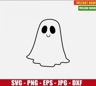 Ghost Free Cut File (SVG dxf png) Freebie Halloween Clipart for Silhouette Cricut Digital Vector Image Outline - Don Vito Design Store