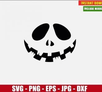 Pumpkin Face Free Cut File (SVG dxf png) Freebie Halloween Smile Clipart for Silhouette Cricut Digital Vector Image - Don Vito Design Store