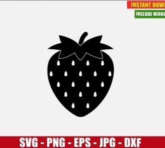 Strawberry Free Cut File (SVG dxf png) Freebie Fruit Garden Clipart for Silhouette Cricut Digital Vector Image - Don Vito Design Store