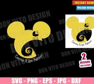 Disney Maternity Jack Skellington (SVG dxf PNG) Halloween Pregnant Baby Cut File Silhouette Cricut Vector Clipart