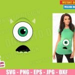 Monsters Inc Eye Maternity Costume (SVG dxf PNG) Halloween Pregnant Baby Mike Cut File Silhouette Cricut Vector Clipart T-Shirt 2 Designs DIY