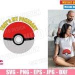 Pokeball Maternity Costume (SVG dxf PNG) Pokemon Pregnant Baby Cut File Silhouette Cricut Vector Clipart T-Shirt 2 Designs DIY