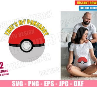 Pokeball Maternity Costume (SVG dxf PNG) Pokemon Pregnant Baby Cut File Silhouette Cricut Vector Clipart - Don Vito Design Store