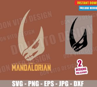 MudHorn Sigil Signet The Mandalorian (SVG dxf PNG) Star Wars Emblem Cut File Silhouette Cricut Vector Clipart - Don Vito Design Store