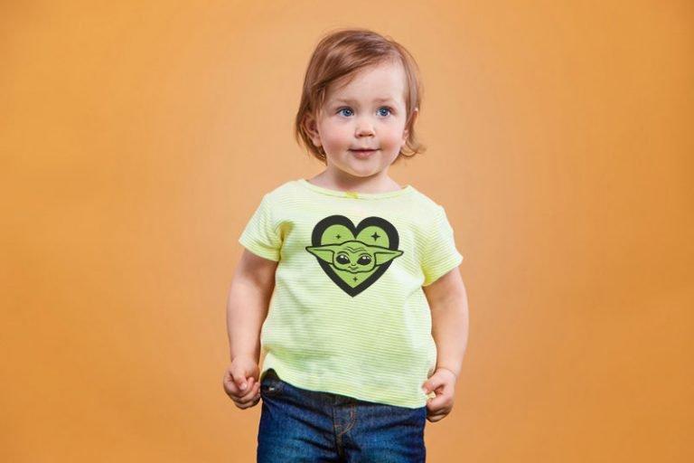 T-Shirt Example - Baby Yoda Head Love Heart (SVG dxf PNG) Star Wars The Mandalorian Bundle Cut File Silhouette Cricut Vector Clipart - Don Vito Design Store