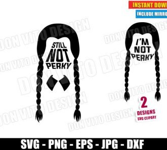 Still Not Perky Wednesday Addams (SVG dxf PNG) Halloween I'm not Perky Hair Cut File Silhouette Cricut Vector Clipart - Don Vito Design Store