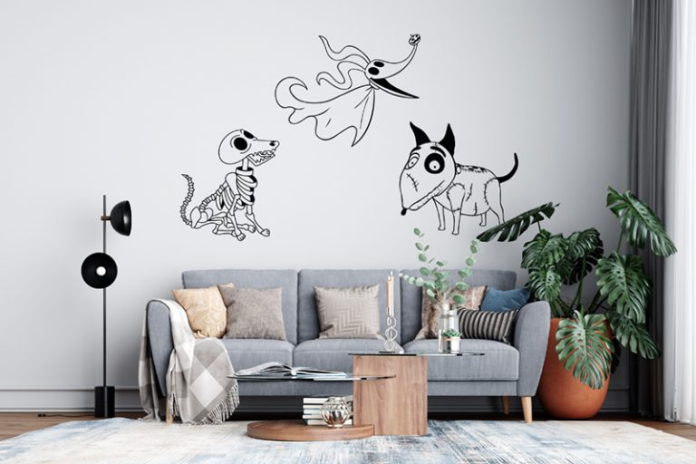 Wall Example - Corpse Bride Scraps Dog (SVG dxf PNG) Halloween Dog Lover Movie Cut File Silhouette Cricut Vector Clipart - Don Vito Design Store