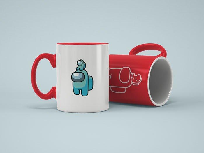 Mug Example - Among Us Mini Crewmate Logo (SVG dxf PNG) Game Impostor Baby Pet Cut File Silhouette Cricut Vector Clipart - Don Vito Design Store
