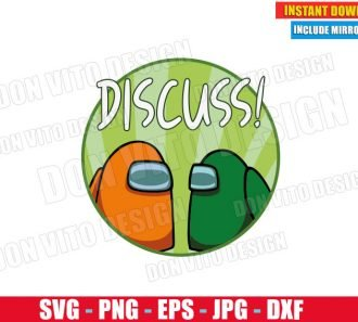 Among Us Discuss Logo (SVG dxf PNG) Game Impostor or Crewmate Cut File Silhouette Cricut Vector Clipart