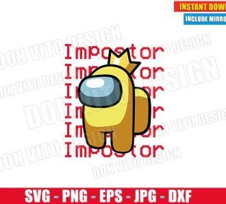 Among Us Impostor Yellow Logo (SVG dxf PNG) Game Impostor Crewmate Cut File Silhouette Cricut Vector Clipart - Don Vito Design Store