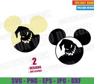 Oogie Boogie Mickey Mouse Ears (SVG dxf PNG) Halloween Nightmare Before Christmas Cut File Silhouette Cricut Vector Clipart - Don Vito Design Store