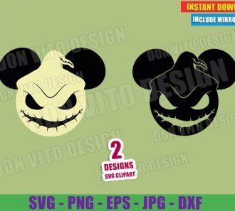 Oogie Boogie Disney Ears (SVG dxf PNG) Nightmare Before Christmas Mickey Mouse Cut File Silhouette Cricut Vector Clipart - Don Vito Design Store