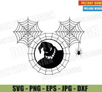 Oogie Boogie Spiderweb Mickey Head (SVG dxf PNG) Nightmare Before Christmas Cut File Silhouette Cricut Vector Clipart - Don Vito Design Store