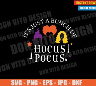 It's Just a Bunch of Hocus Pocus Hair (SVG dxf PNG) Halloween Sanderson Sisters Movie Cut File Silhouette Cricut Vector Clipart - Don Vito Design Store