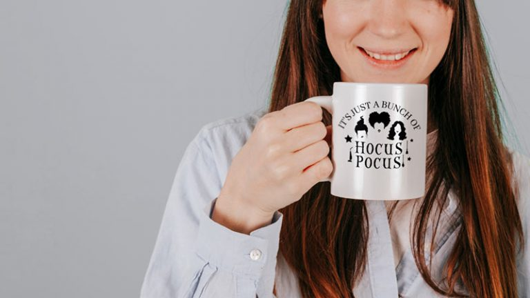 Mug Example - It is Just a Bunch of Hocus Pocus (SVG dxf PNG) Halloween Sanderson Sisters Movie Cut File Silhouette Cricut Vector Clipart - Don Vito Design Store