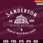 Sanderson Witch Museum (SVG dxf PNG) Halloween Hocus Pocus Movie Sisters Cut File Silhouette Cricut Vector Clipart T-Shirt Design DIY