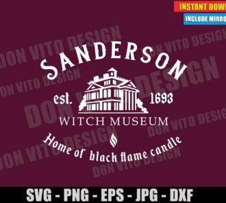 Sanderson Witch Museum (SVG dxf PNG) Halloween Hocus Pocus Movie Sisters Cut File Silhouette Cricut Vector Clipart - Don Vito Design Store