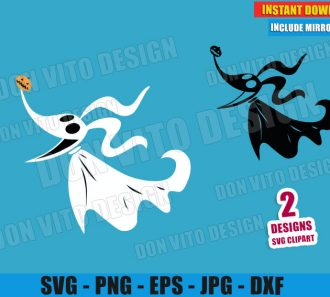 Zero Ghost Dog Jack Skellington (SVG dxf PNG) Nightmare Before Christmas Cut File Silhouette Cricut Vector Clipart - Don Vito Design Store