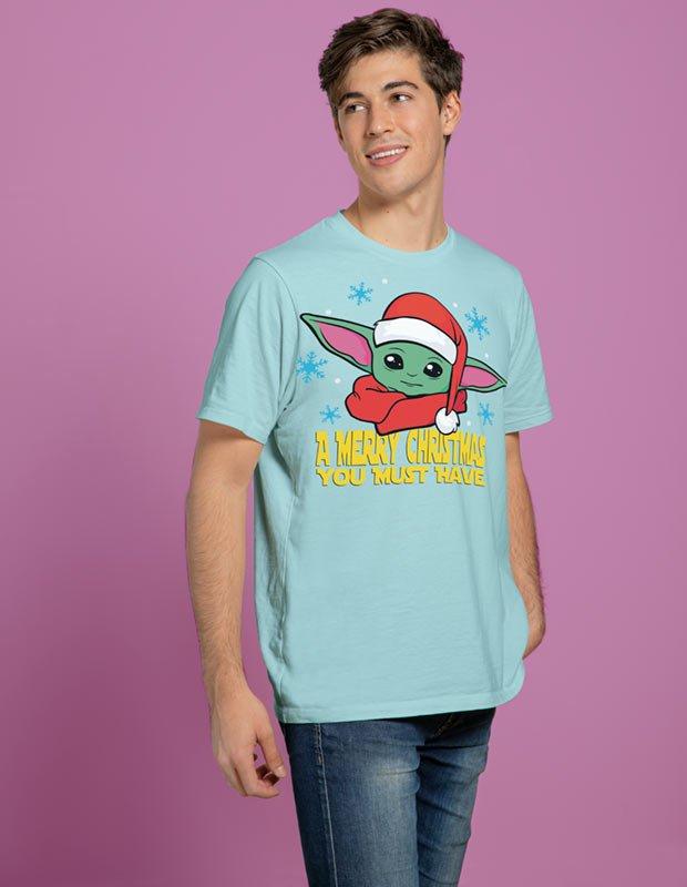 T-Shirt Example - Baby Yoda Santa Hat Christmas (SVG dxf PNG) Star Wars The Mandalorian Cut File Silhouette Cricut Vector Clipart - Don Vito Design Store